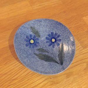 Pottery Floral Trinket Dish